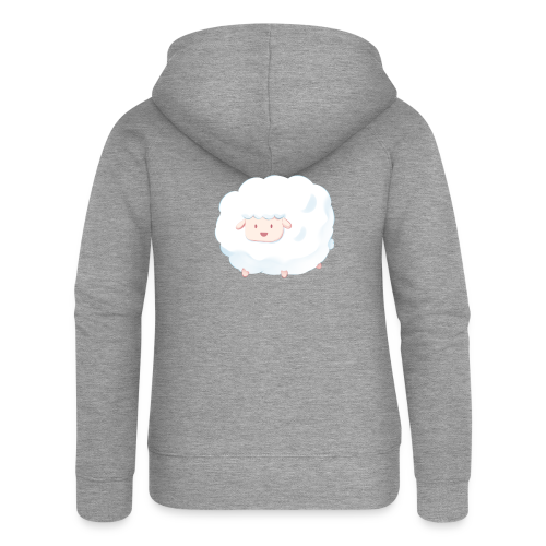 Sheep - Felpa con zip premium da donna