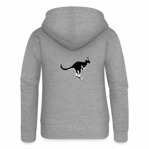 Känguru in schwarz weiss - Frauen Premium Kapuzenjacke