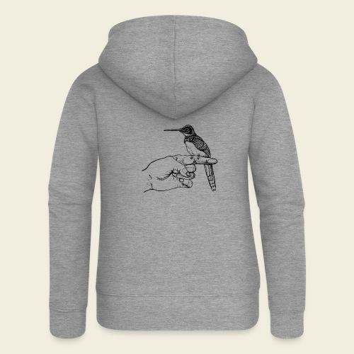 Kolibri Hand - Frauen Premium Kapuzenjacke
