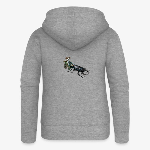 King Charles Spaniel with Stag beetle steed - Women's Premium Hooded Jacket