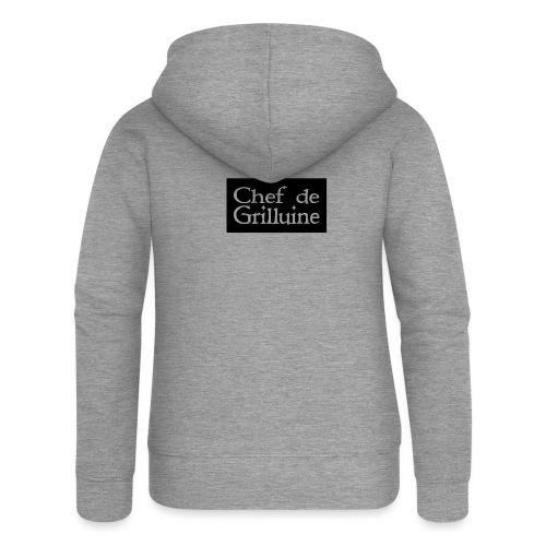 Chef de Grilluine - der Chef am Grill - Frauen Premium Kapuzenjacke
