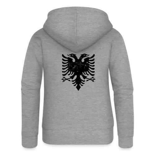 Albanischer Adler im Vintage Look - Patrioti - Frauen Premium Kapuzenjacke
