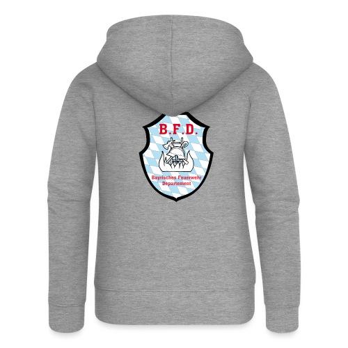 Inoffizielles bayrisches Feuerwehrabzeichen - Frauen Premium Kapuzenjacke