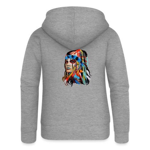 Pióra i pióropusze - Rozpinana bluza damska z kapturem Premium