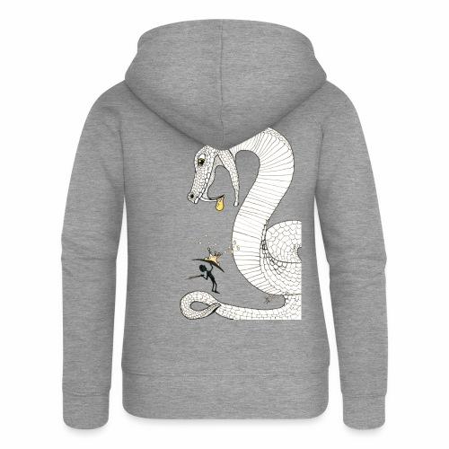 Poison - Combat contre un serpent venimeux géant - Veste à capuche Premium Femme