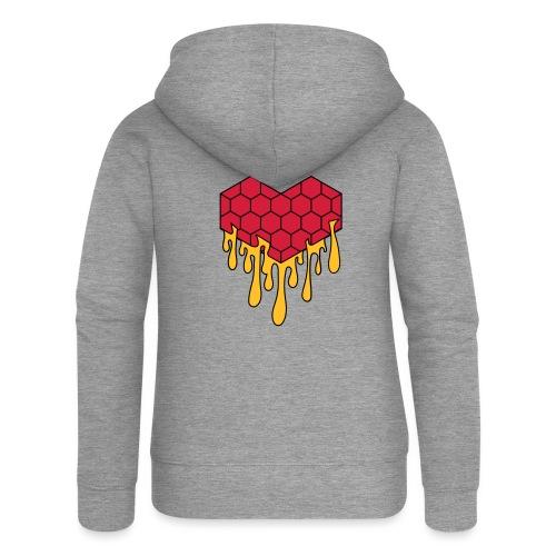 Honey heart cuore miele radeo - Felpa con zip premium da donna
