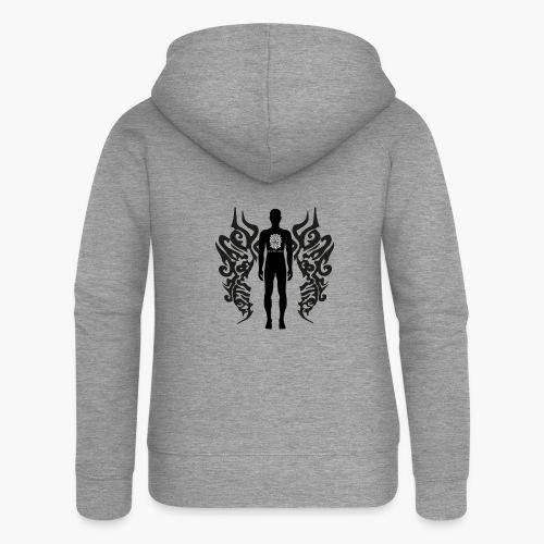 Houseology Original - Angel of Music (INVERSE) - Women's Premium Hooded Jacket