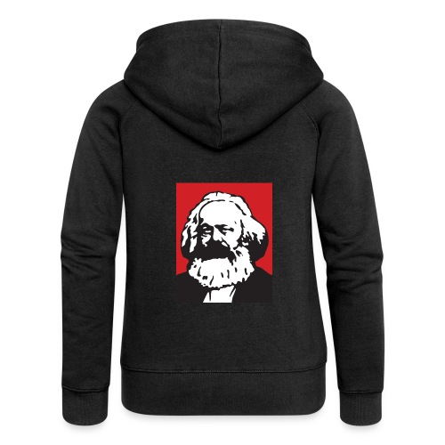 Karl Marx - Felpa con zip premium da donna