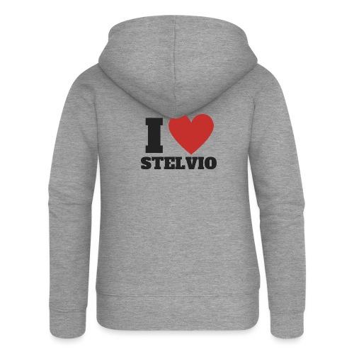 I LOVE STELVIO - Felpa con zip premium da donna