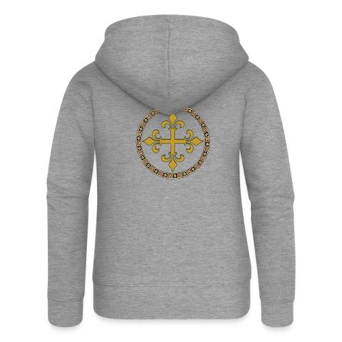 croce celtica oro - Felpa con zip premium da donna