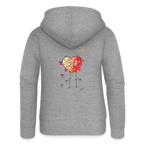 Happy heart - Frauen Premium Kapuzenjacke