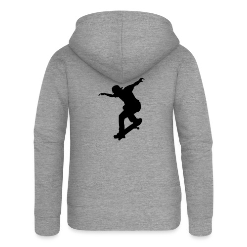 Skater - Felpa con zip premium da donna