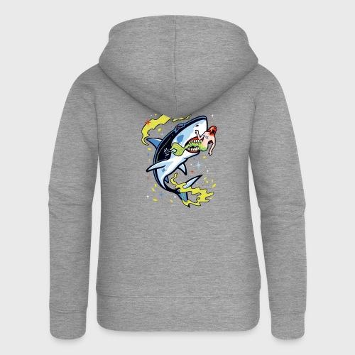 Requin mangeur de sirène - Veste à capuche Premium Femme