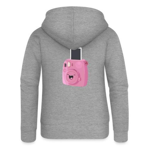 Appareil photo instantané rose - Veste à capuche Premium Femme