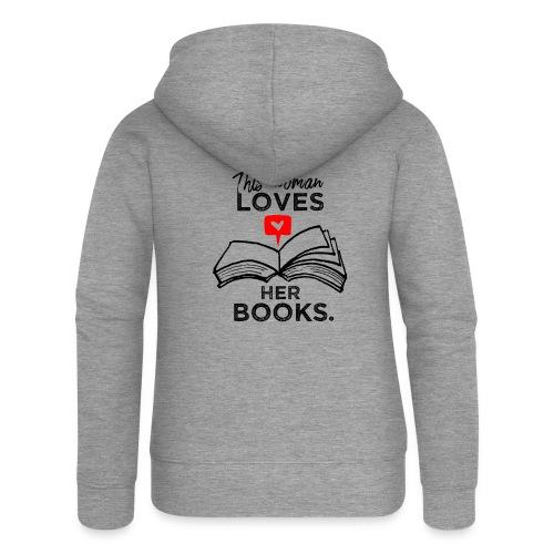 0217 Diese Frau liebt ihre Bücher | Leserin - Women's Premium Hooded Jacket