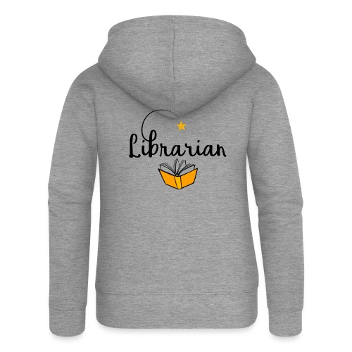 0326 Librarian & Librarian - Women's Premium Hooded Jacket