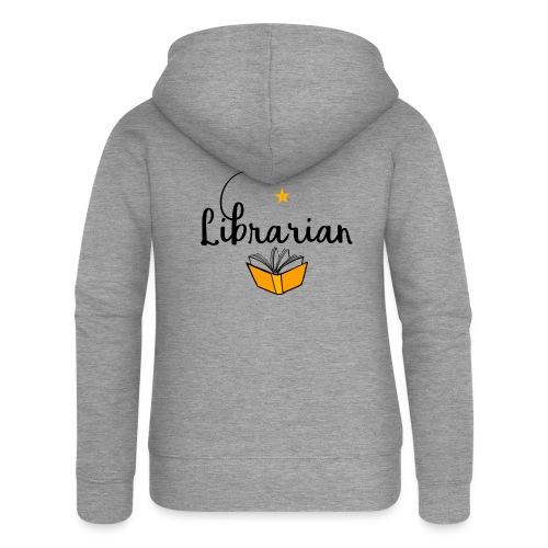 0326 Librarian & Librarian - Women's Premium Hooded Jacket