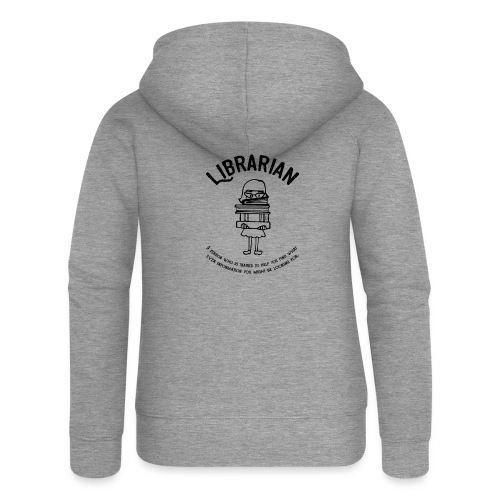 0329 books Funny saying librarian - Women's Premium Hooded Jacket