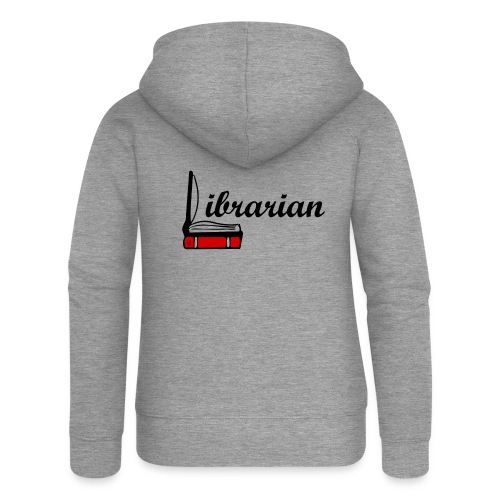 0324 Librarian Librarian Library Book - Women's Premium Hooded Jacket