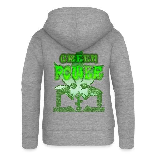 Green Power - Veste à capuche Premium Femme