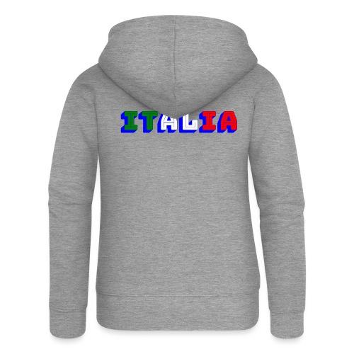 Italia - Felpa con zip premium da donna