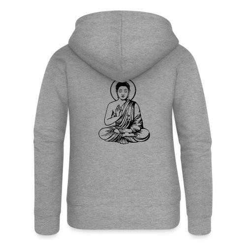 Buddha-Vektor-Outline - Frauen Premium Kapuzenjacke