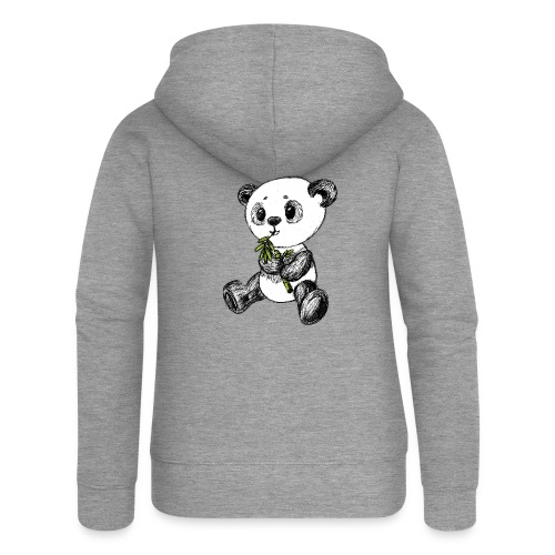 Panda bear colored scribblesirii - Women's Premium Hooded Jacket