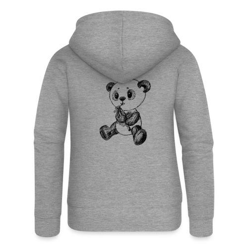 Panda Bär schwarz scribblesirii - Frauen Premium Kapuzenjacke
