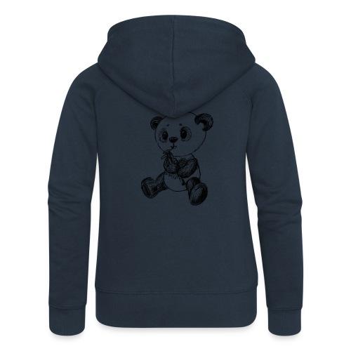 Panda Karhu musta scribblesirii - Naisten Girlie svetaritakki premium