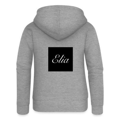 ELIA (Black and white) - Frauen Premium Kapuzenjacke