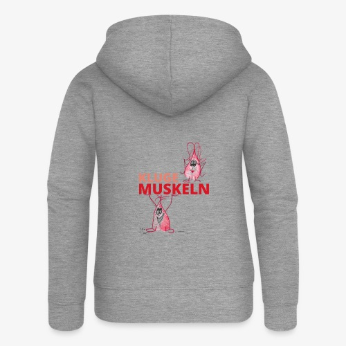 Kluge Muskeln - Frauen Premium Kapuzenjacke