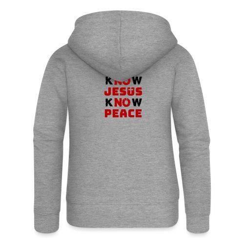 Know Jesus Know Peace (Classic) - Frauen Premium Kapuzenjacke