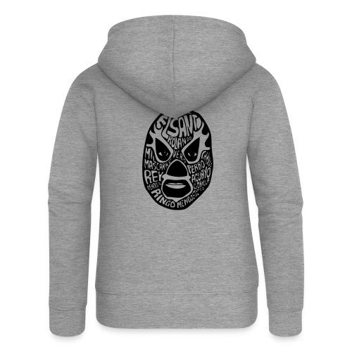 luchador mask2 - Vrouwenjack met capuchon Premium