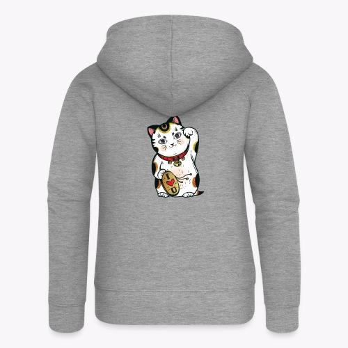 Love Lucky Cat - Women's Premium Hooded Jacket