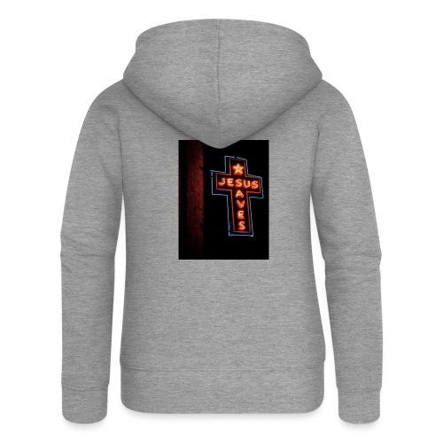 Jesus Saves - Women's Premium Hooded Jacket