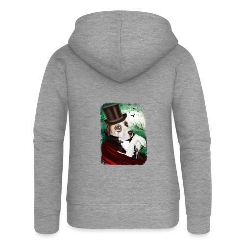 Gothic Dog #3 - Felpa con zip premium da donna