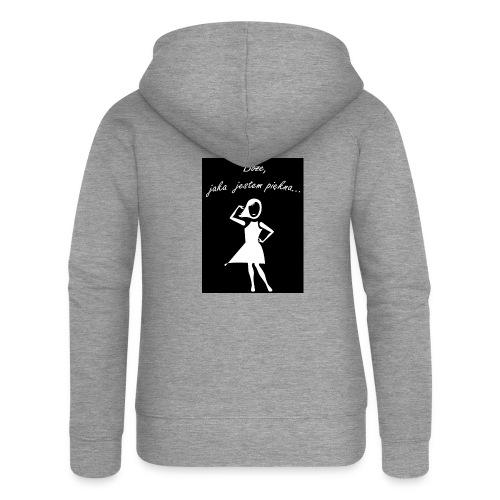Koszulka Boże, jaka jestem piękna - Rozpinana bluza damska z kapturem Premium