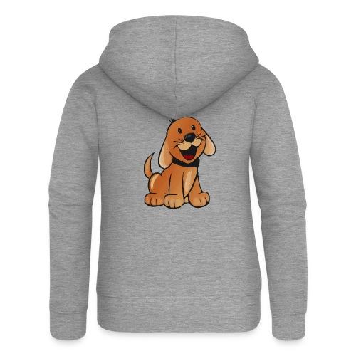 cartoon dog - Felpa con zip premium da donna