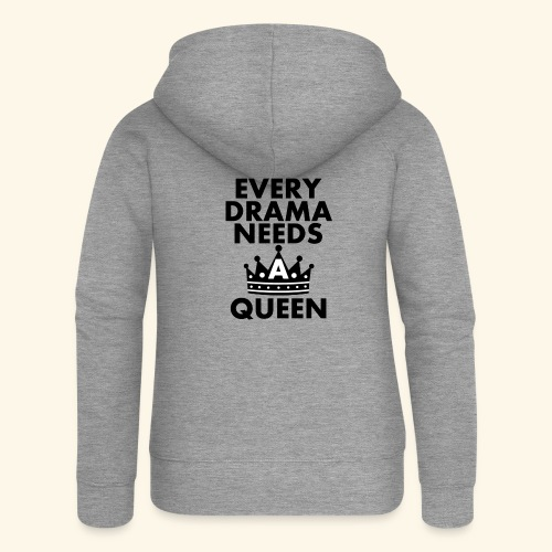 EVERY DRAMA black png - Women's Premium Hooded Jacket
