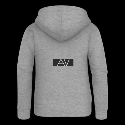 AV White - Women's Premium Hooded Jacket