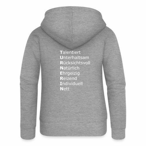 Turnerin - Frauen Premium Kapuzenjacke