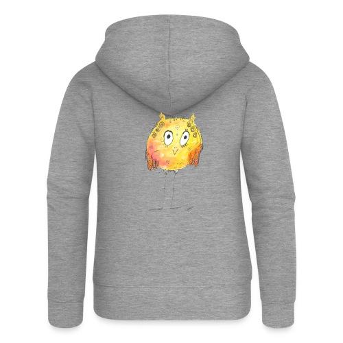 Happy yellow bird - Frauen Premium Kapuzenjacke