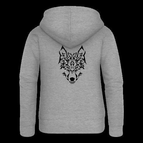 Tribal Wolf - Veste à capuche Premium Femme