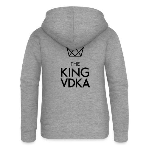 The King VDKA Logo schwarz RGB - Frauen Premium Kapuzenjacke