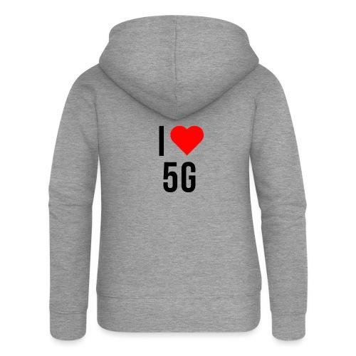 ilove5g - Frauen Premium Kapuzenjacke