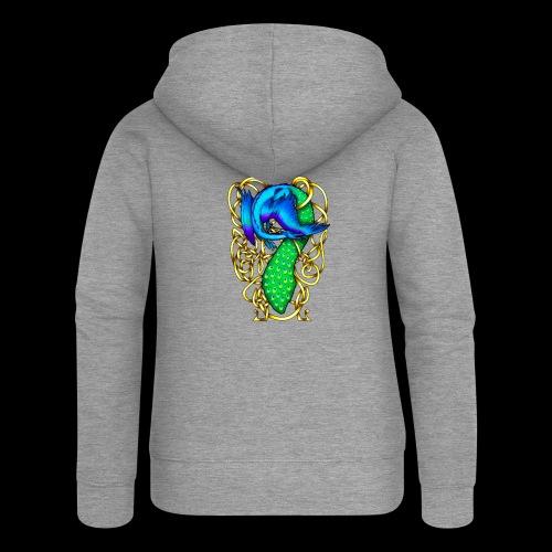 Peacock Dragon - Women's Premium Hooded Jacket