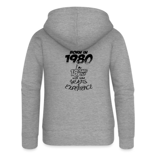 born In1980 - Women's Premium Hooded Jacket
