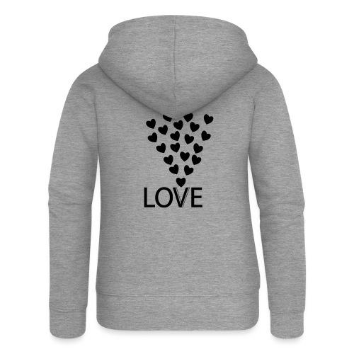 LOVE Herz - Frauen Premium Kapuzenjacke
