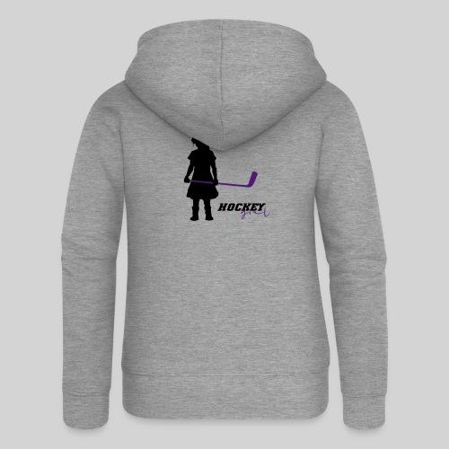 Hockey Girl I - Frauen Premium Kapuzenjacke
