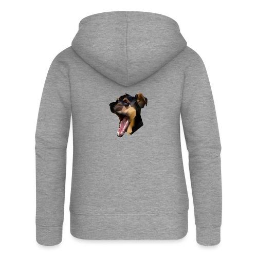 Süßer Polygon Hund - Frauen Premium Kapuzenjacke